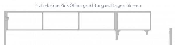Automatik-Schiebetor Breite: 250cm; Höhe: 140cm; Verzinkt; ohne Füllung; Öffnungsrichtung rechts