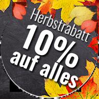 10% Herbstrabatt auf alles