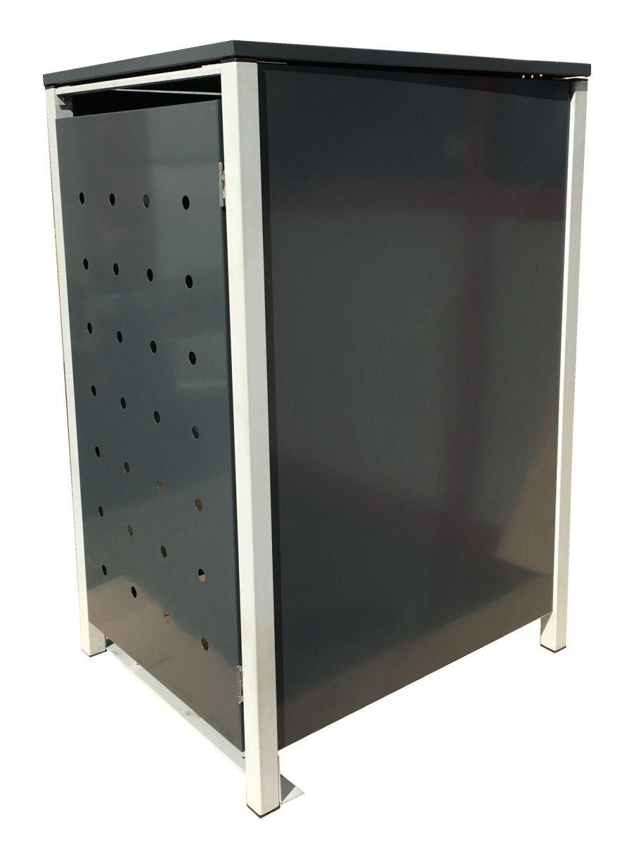 metall-mülltonnenbox anthrazit für 1-5 mülltonnen günstig kaufen