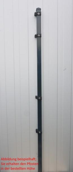 Eckpfosten einzeln / Anthrazit / für Zaunfeld 183cm (240cm) / incl. Zubehör