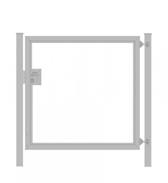 Gartentor / Zauntür Premium für waagerechte Holzfüllung; Verzinkt; Breite 125cm x Höhe 100cm