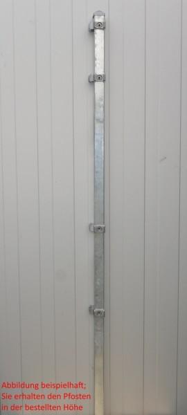 Eckpfosten einzeln / Verzinkt / für Zaunfeld 163cm (220cm) / incl. Zubehör