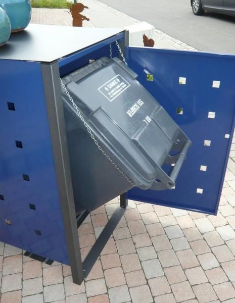 Kippbox-Set für Premium-Line Metall Mülltonnenboxen