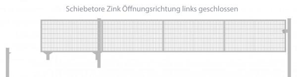 Schiebetor Breite: 250cm; Höhe: 160cm; Verzinkt; Füllung: 6/5/6mm Doppelstabmatte; Öffnungsrichtung links