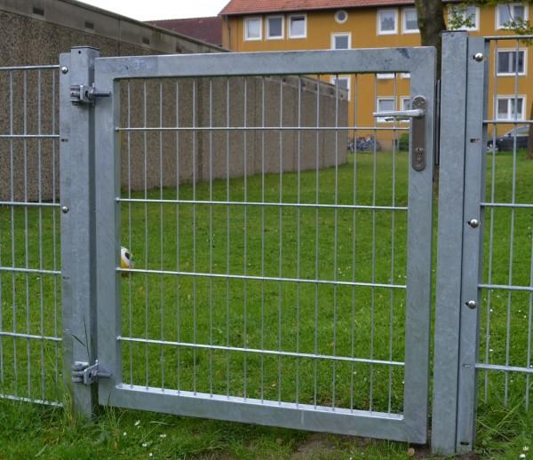 Gartentor / Zauntür Premium für Stabmattenzaun Breite 125cm x Höhe 120cm Verzinkt
