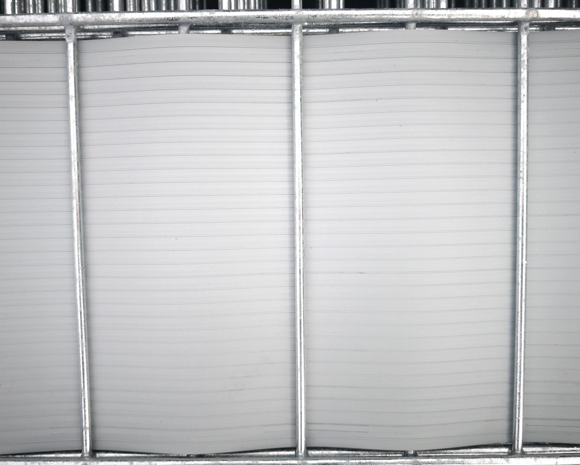 sichtschutz hart pvc streifen 252cm hellgrau wie ral 7040 aus pp l nge 252cm breite 19 1cm. Black Bedroom Furniture Sets. Home Design Ideas