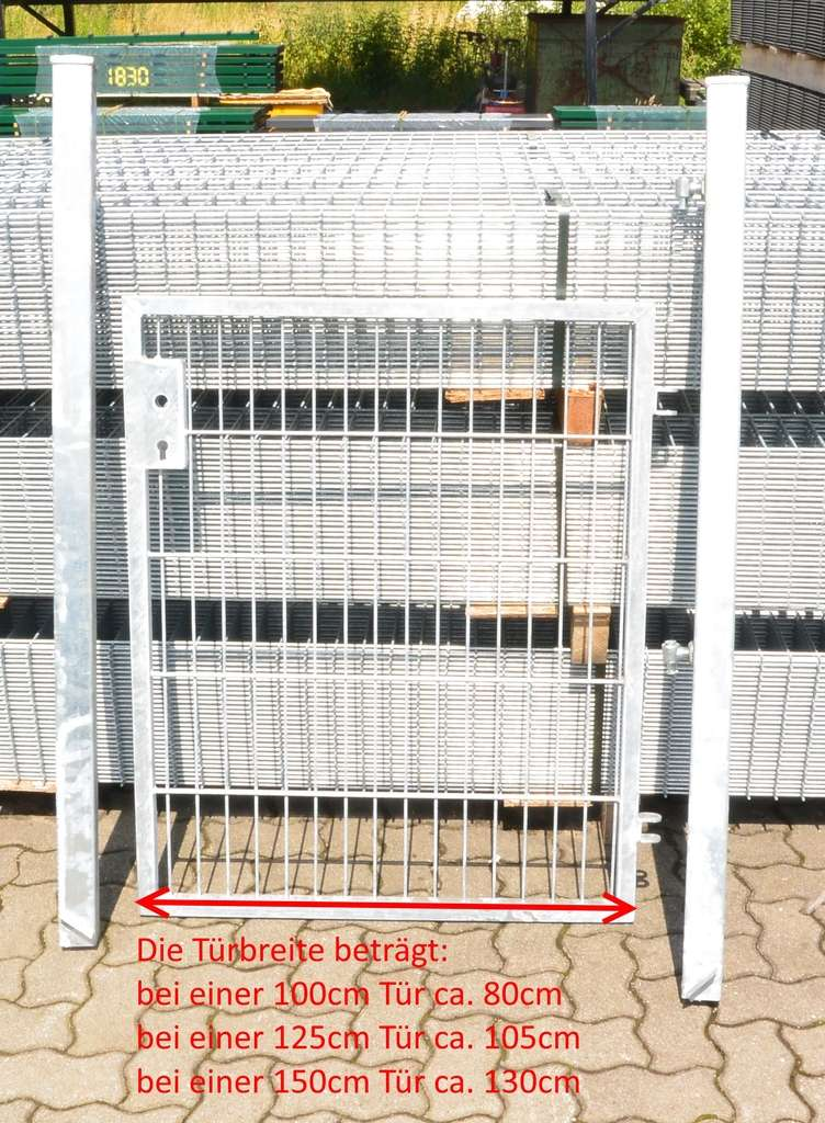 Gartentor Zauntur Basic Fur Stabmattenzaun Verzinkt Breite Inkl