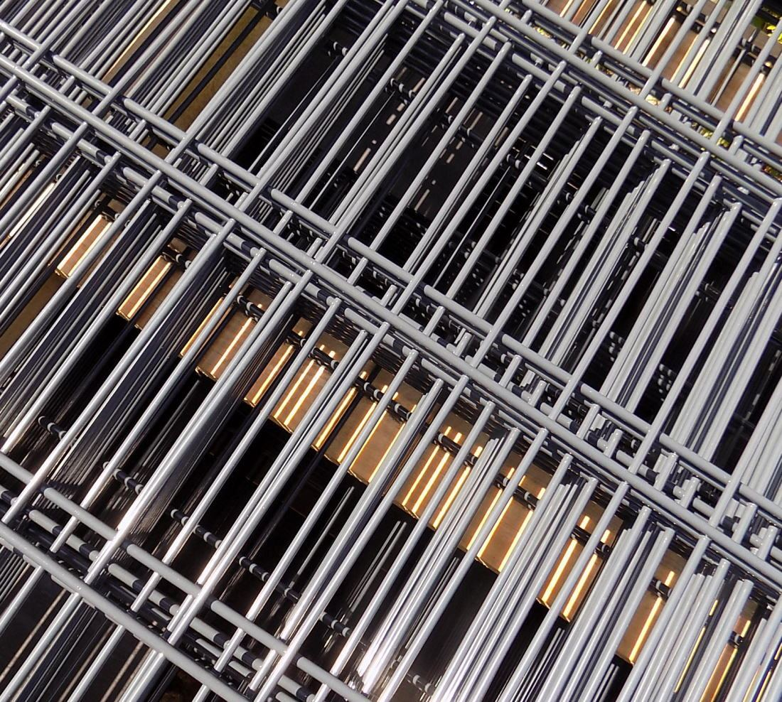 5x Halteplatte Halteplatte Klemmplatte Edelstahl zur Montage von Doppelstabmatte