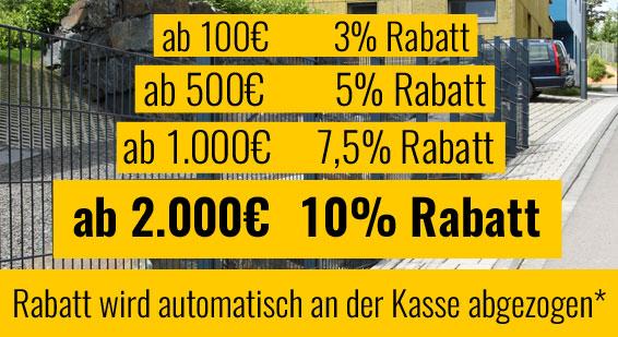 Bis zu 10% Rabatt sichern