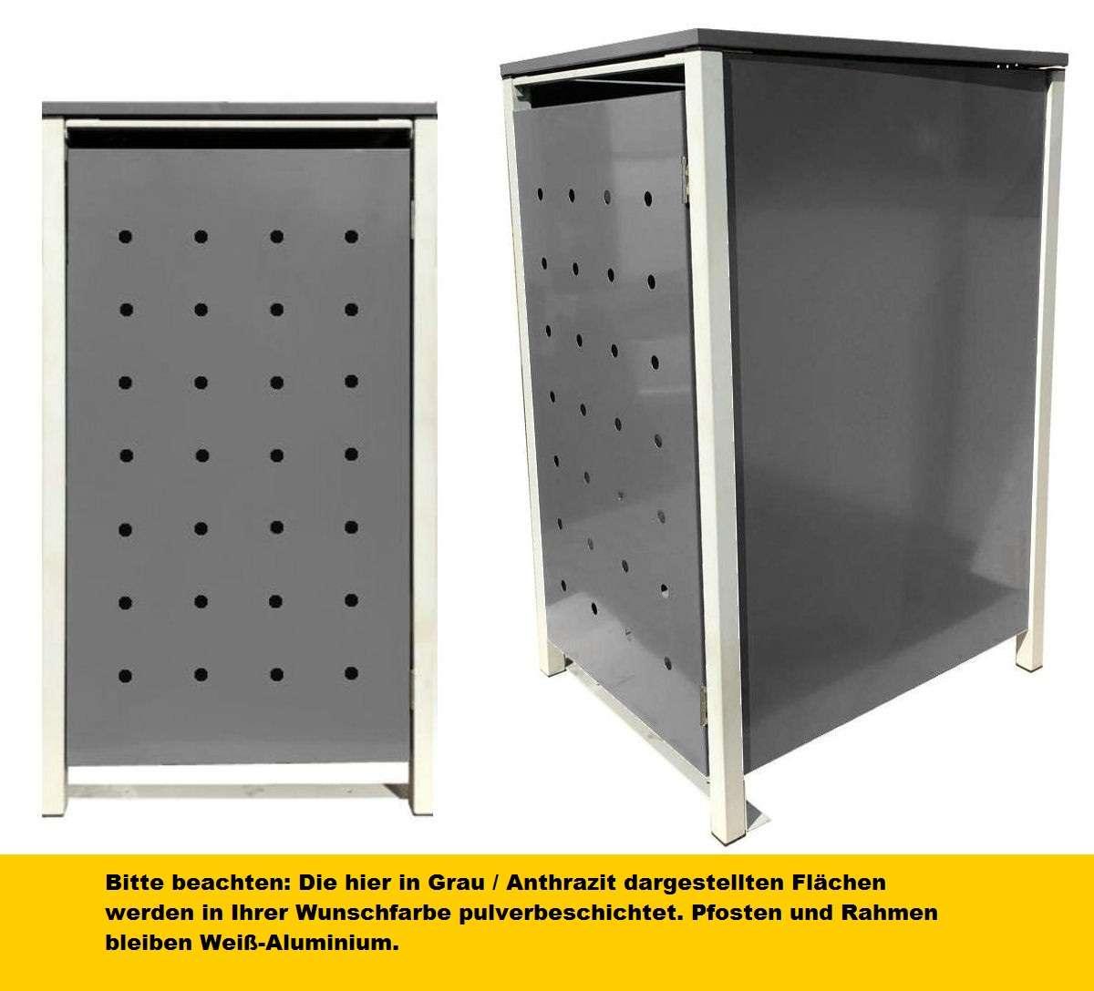 Metall Mülltonnenboxen in Wunschfarbe alle RAL Farben f 1 5