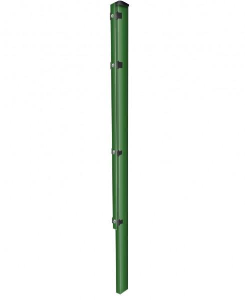Zaunpfosten zum Einbetonieren mit Abdeckleisten Grün für Zaunfelder Höhe 123 cm