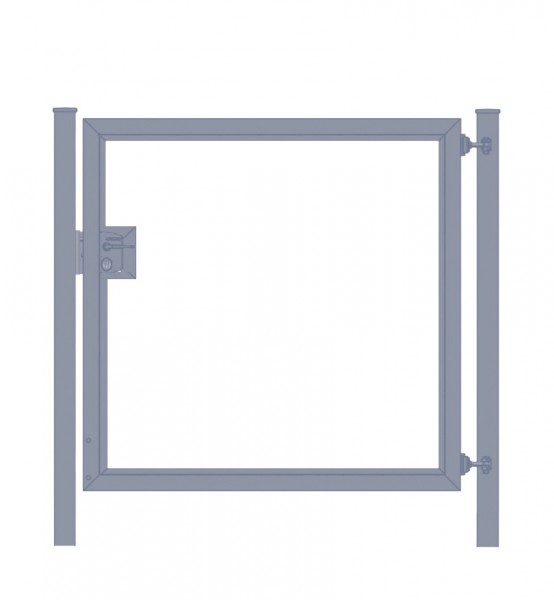 Gartentor / Zauntür Premium für senkrechte Holzfüllung; anthrazit; Breite 125 cm x Höhe 80 cm (neues Modell)