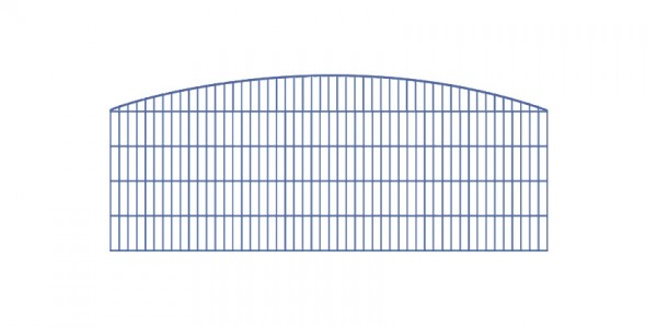 Doppelstabmatten-Schmuckzaun Rundbogen-Dekor Komplett-Set mit Abdeckleisten / Anthrazit / 201 cm hoch / 97,5 m lang