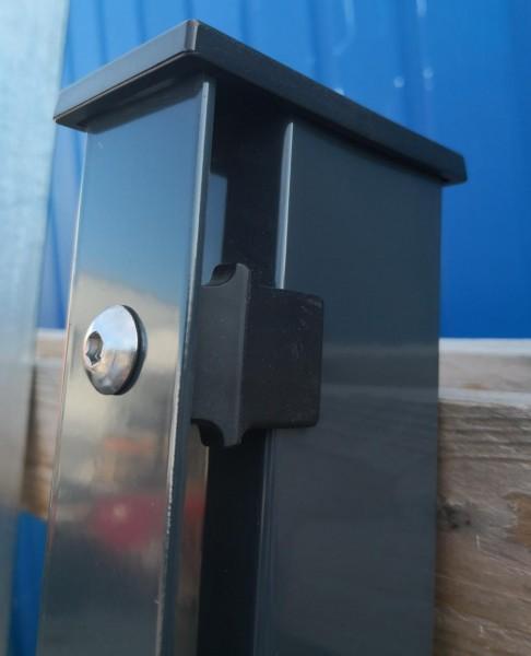 Pfostenkappe Kunststoff 60x40 mit Überstand Schwarz