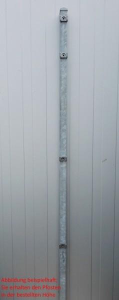 Pfosten einzeln / Verzinkt / für Zaunfeld 123cm (170cm) / incl. Zubehör