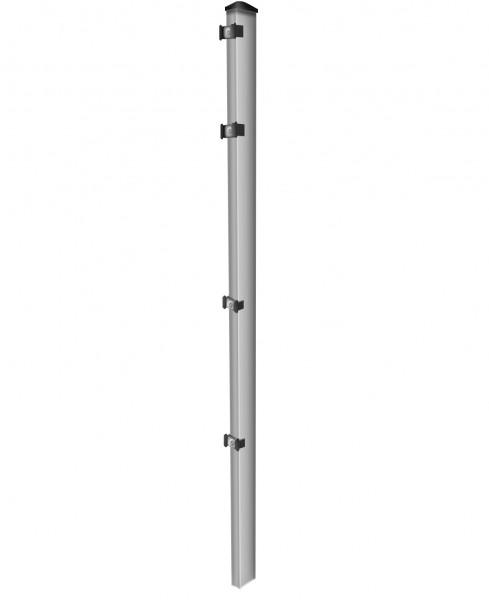 Pfosten einzeln / Verzinkt / für Zaunfeld 203cm (260cm) / incl. Zubehör