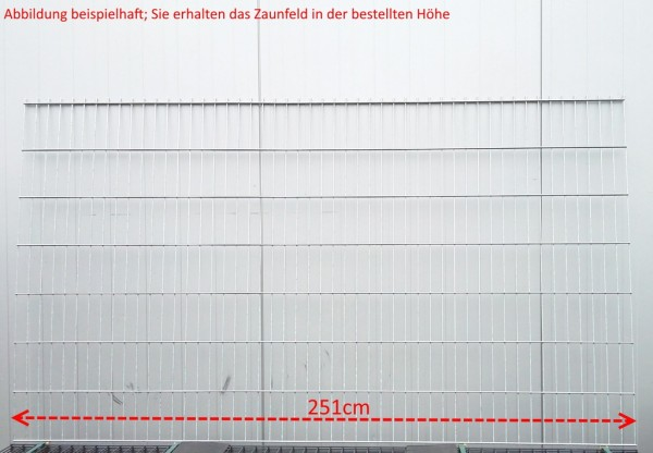 Doppelstab Zaunfeld / Verzinkt / 183cm Höhe / 250cm Breite / Stärke 8/6/8mm