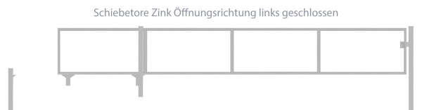 Automatik-Schiebetor Breite: 250cm; Höhe: 100cm; Verzinkt; ohne Füllung; Öffnungsrichtung links