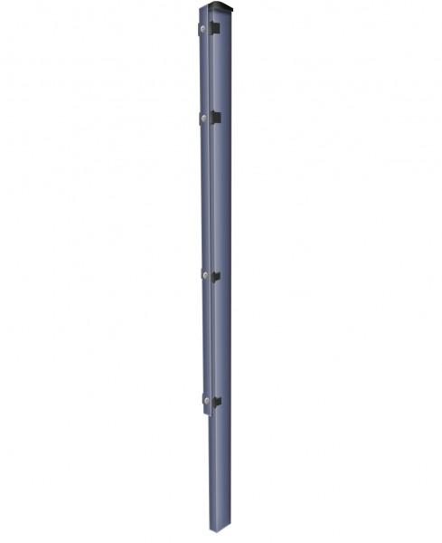 Zaunpfosten zum Einbetonieren mit Abdeckleisten Anthrazit für Zaunfelder Höhe 123 cm