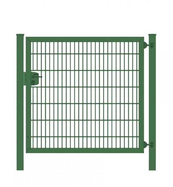 Gartentor / Zauntür Premium Plus 8/6/8 für Stabmattenzaun Moosgrün Breite 100cm x Höhe 140cm