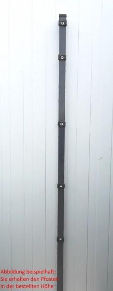 Pfosten einzeln / Anthrazit / für Zaunfeld 143cm (200cm) / incl. Zubehör
