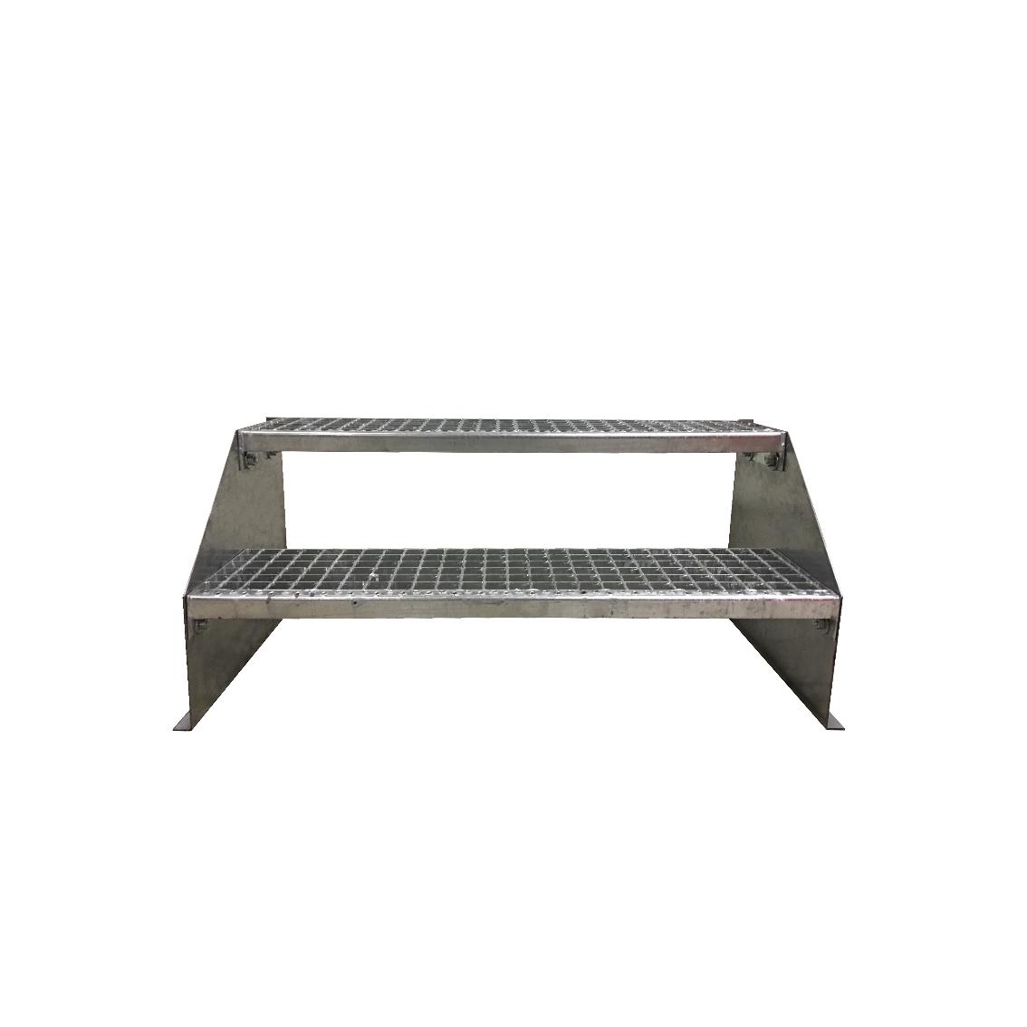 Favorit 2-stufige Stahltreppe freistehend / Standtreppe / Breite 70cm OV91