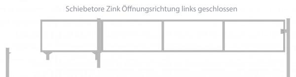 Schiebetor Breite: 250cm; Höhe: 100cm; Verzinkt; ohne Füllung; Öffnungsrichtung links