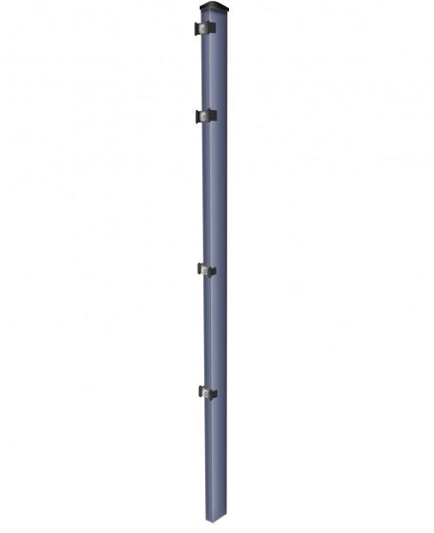 Pfosten einzeln / Anthrazit / für Zaunfeld 123cm (170cm) / incl. Zubehör