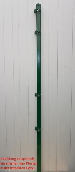 Eckpfosten einzeln / Grün / für Zaunfeld 83cm (120cm) / incl. Zubehör