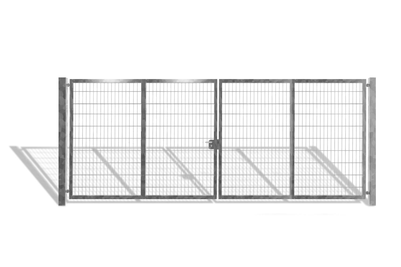 industrietor doppelstabmattentor verzinkt 2 fl gelig breite 600 cm x h he 200 cm g nstig. Black Bedroom Furniture Sets. Home Design Ideas