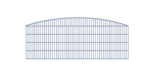 Doppelstabmatten-Schmuckzaun Rundbogen-Dekor Komplett-Set mit Abdeckleisten / Anthrazit / 201 cm hoch / 100 m lang