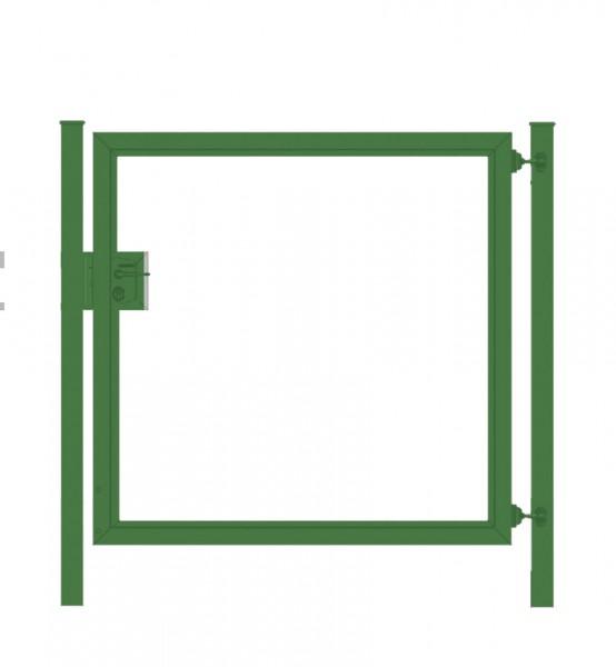 Gartentor / Zauntür Premium für waagerechte Holzfüllung; grün; Breite 125 cm x Höhe 100 cm (neues Modell)