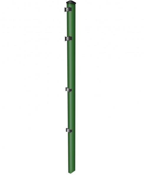 Pfosten einzeln / Grün / für Zaunfeld 123cm (170cm) / incl. Zubehör
