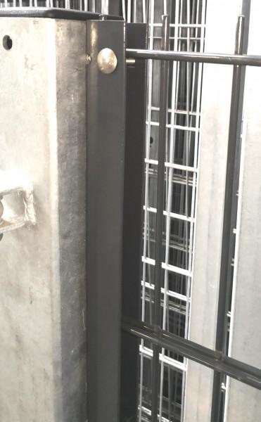 U-Anschlussprofil / Anschlussleiste Anthrazit 123cm zur Zaunmontage an Wand oder Torpfosten