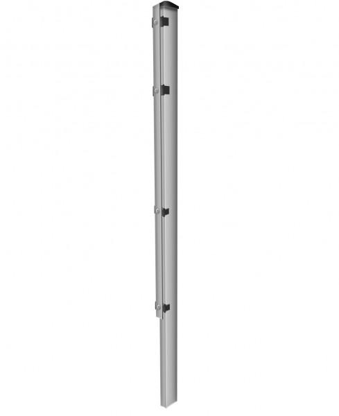 Zaunpfosten zum Einbetonieren mit Abdeckleisten Verzinkt für Zaunfelder Höhe 123 cm