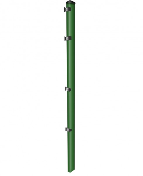 Pfosten einzeln / Grün / für Zaunfeld 143cm (200cm) / incl. Zubehör