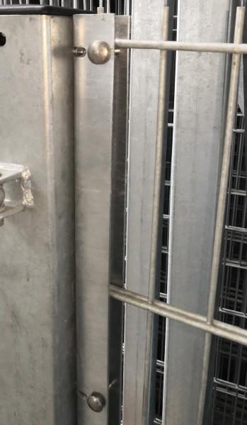 U-Anschlussprofil / Anschlussleiste verzinkt 123cm zur Zaunmontage an Wand oder Torpfosten